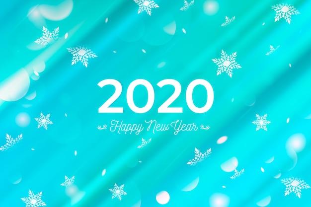 Beautiful blurred new year 2020 background