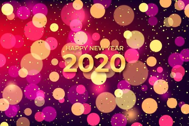 Beautiful blurred new year 2020