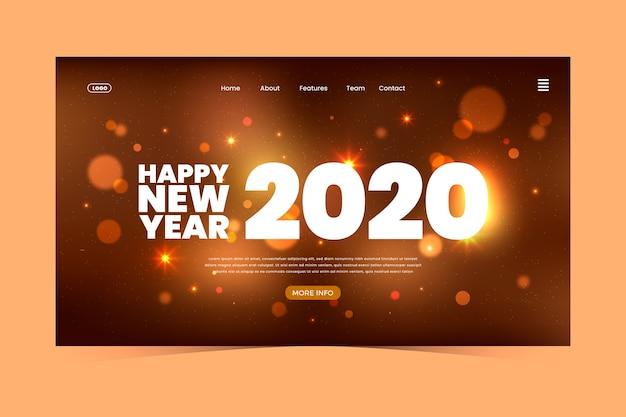 Beautiful blurred new year landing page