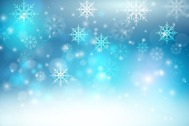 Beautiful blurred winter wallpaper