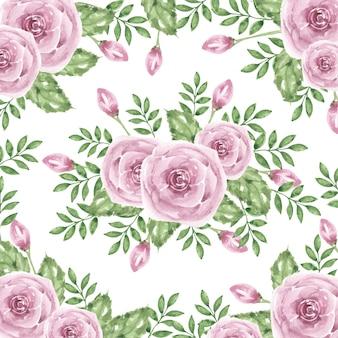아름 다운 홍당무 보라색 꽃 수채화 배경