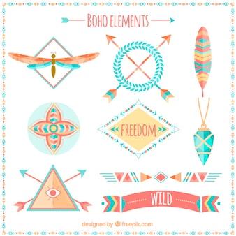 Красивые элементы boho
