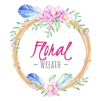 Beautiful Boho Floral Wreath