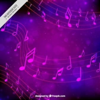 Красивый музыкальный фон боке