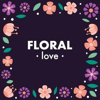 Beautiful border flower vector background