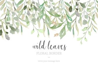 Красивая граница с дикими листьями