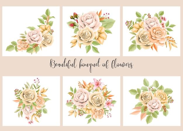 꽃의 아름다운 꽃다발