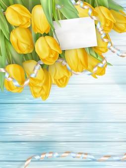 チューリップの美しい花束。