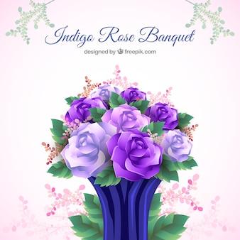 Красивый букет из фиолетовых цветов