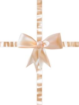 白い背景の上の美しい弓。