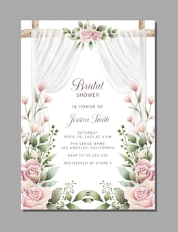 美しいブライダルシャワーの招待状
