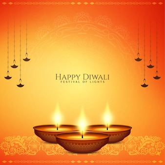 Beautiful bright happy diwali hindu festival background design vector