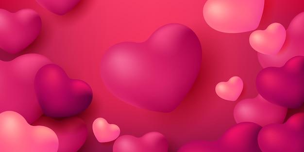 Beautiful bright love symbol day background