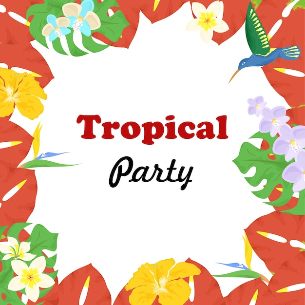 Beautiful and bright template on the theme of tropics.