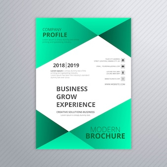 Beautiful brochure design template vector