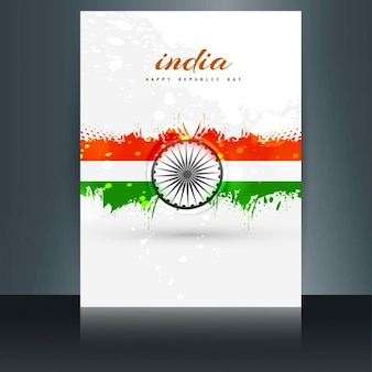 Beautiful brochure with indian flag