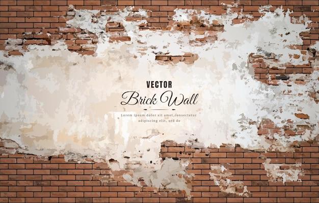 美しい茶色のブロックレンガの壁パターンテクスチャ背景。