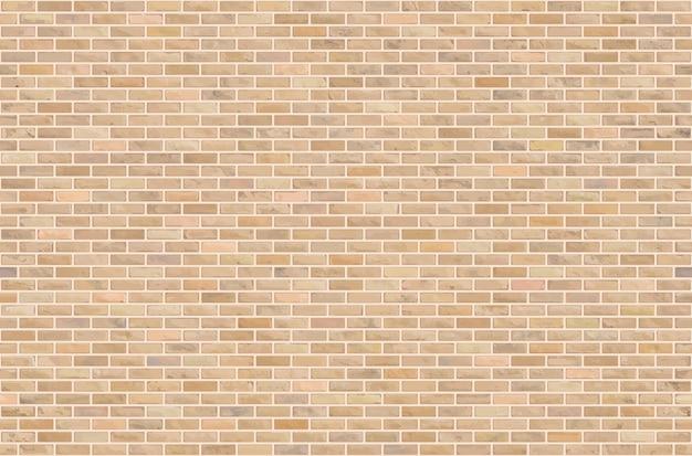 美しい茶色のブロックレンガの壁のシームレスなパターンのテクスチャ背景。