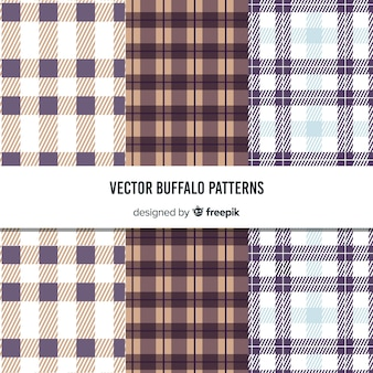 Beautiful buffalo pattern collection