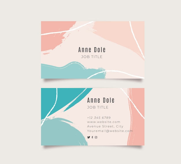 Beautiful business card in memphis style