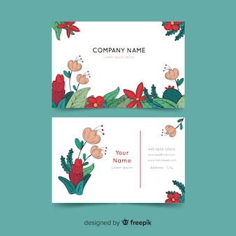 Beautiful business card template with nature concept