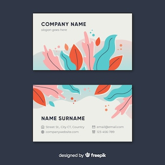 Beautiful business card template with nature design