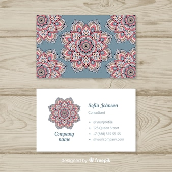 Beautiful business card with mandala design