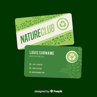 Beautiful business card with nature concept