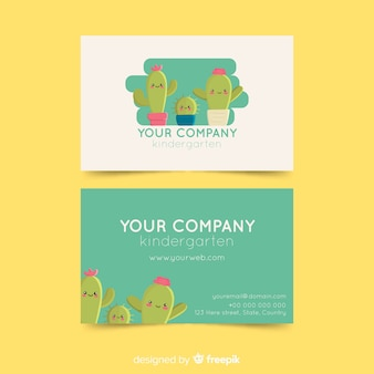 Beautiful business card with nature design