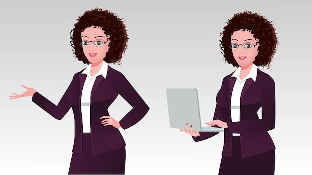 Beautiful business executive with a laptop