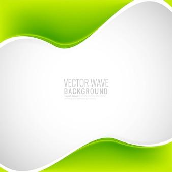 Beautiful  business stylish green wave background