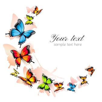아름 다운 나비 배경입니다. 벡터