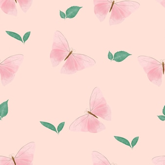Beautiful butterfly seamless pattern