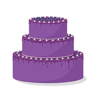Beautiful cake with blackberries