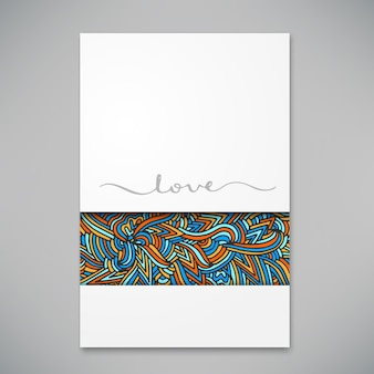 Beautiful card for invitation or announcement