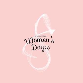 ピンクの背景に8のシンボルの美しいカード。