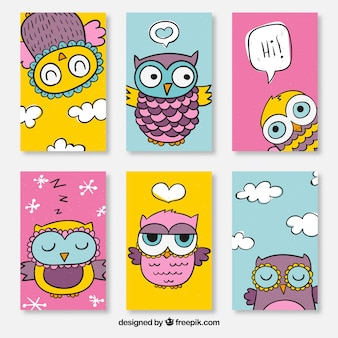 Beautiful cards with owl design