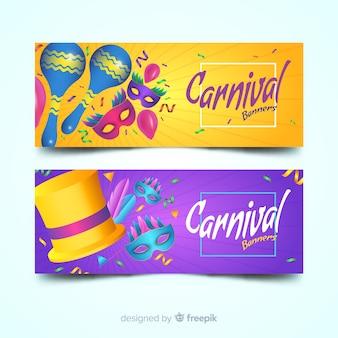 Beautiful carnival banners