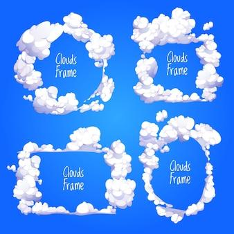 Beautiful cartoon cloud collection