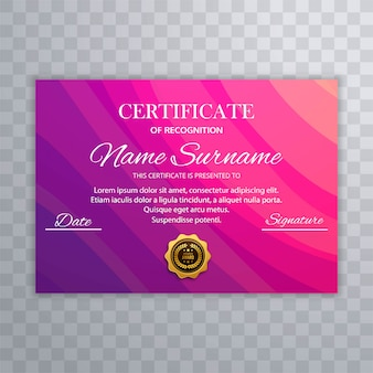 Beautiful certificate diploma colorful template vector