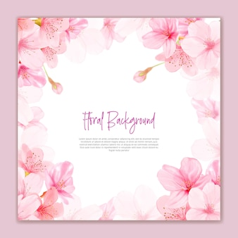 Beautiful cherry blossom flowers background