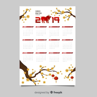 Beautiful chinese new year calendar