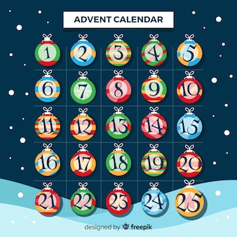 Beautiful christmas advent calendar
