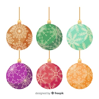 Beautiful christmas balls vintage style