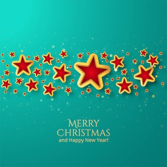 빛나는 별과 아름 다운 크리스마스 카드 배경