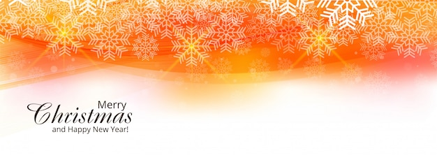 Beautiful christmas card festival banner template