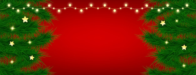 Beautiful christmas card on red background