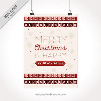 Beautiful christmas card with snowflakes and geometric shapes
