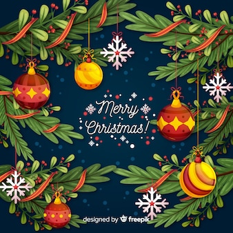 Beautiful christmas decoration background