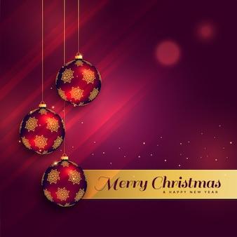 Beautiful christmas festival greeting card design